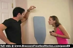 young redhead babe goes with her blind spouse to