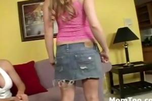 hot blonde mom takes sluty daughter to porn