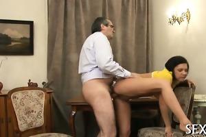 teacher is getting wet blow job stimulation