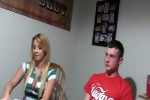 young babysitters fucking on poker night