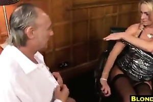 golden-haired doxy anal screwed