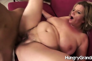 curly granny cunt for younger stud