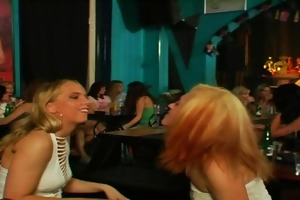 hot youthful amateurs fucked in public bar