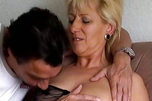 dirty blonde old grandma loves engulfing part2