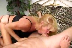 granny tanned blonde in action. aged mature porn