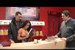 big tit latino pornstar copulates in public for