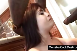 juvenile cutie takes huge penis in her mouth and