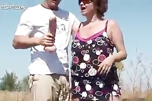 horny milf receives her hairy muf drilled part4