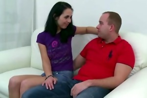 nasty teen girl allows old man to tempt and fuck