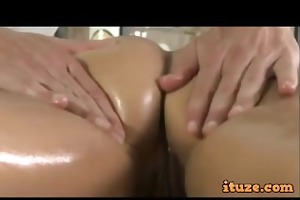 great a-hole babe fucked by masseur on massage