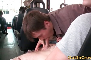 young fellows having homosexual sex in the bus