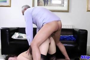 british babes make old stud sex cream