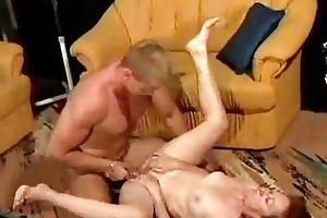 younger dude fucks old granny