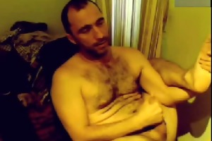 bushy dad cum