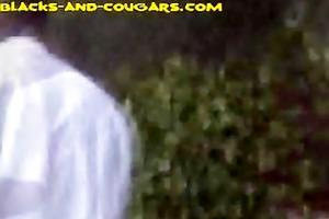 youthful black stuss for a brunette cougar