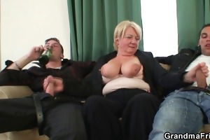 buddies group-sex old bitch