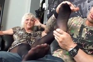 my stepmom st footjob
