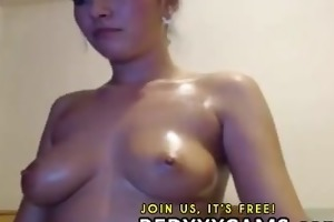 college girl masturbating her pussy and double