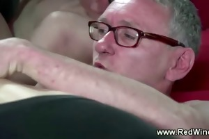 older guy loves his younger hooker on his hard