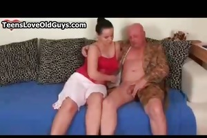 old guy acquires his hard knob sucked hard