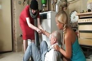 grandpa desires to taste three-some nice...