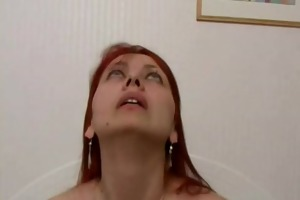 redhead russian mom receives fucked on bed