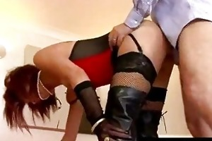 lucky old bastard fucks and spanks redhead in