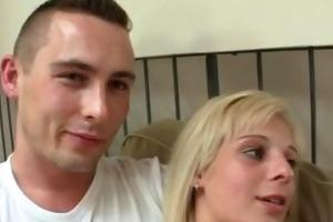 he makes her slutty gf ride his dick hard