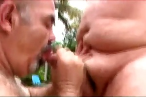 horny dad bears going at it is