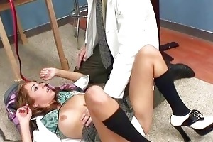 young chick receives nailed