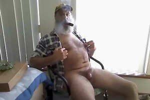 farmer dad smoke n cum