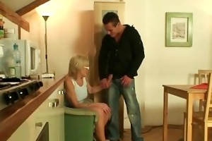 mother in law is fucked on the table