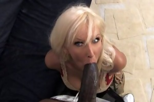 consummate old mommy creampied by black boy while