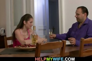 he brought pizza and fucked his youthful wife