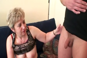 concupiscent granny takes cocks at once
