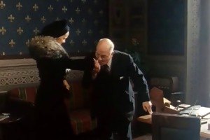suited grandpapa acquires a blowjob