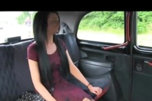 faketaxi young girl with sexy tattoos in backseat