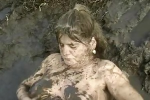aged gets pounded in mud