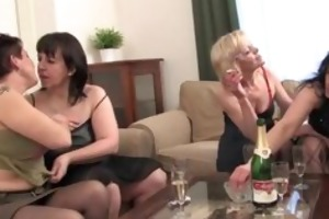 four excited experienced ladies love part6