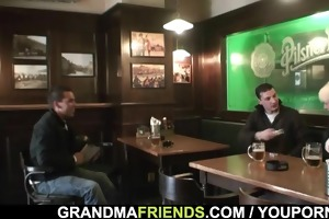 dudes bang totally drunk granny
