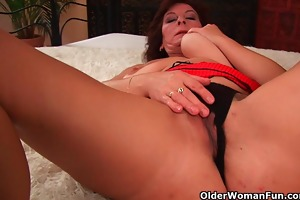 grandma with big tits and bushy snatch acquires
