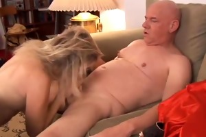 gorgeous aged golden-haired annabelle brady loves