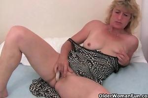 granny in heat finger copulates her old love