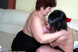 old granny and youthful girl