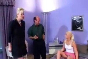 blond hotty acquire a bisex-threesome