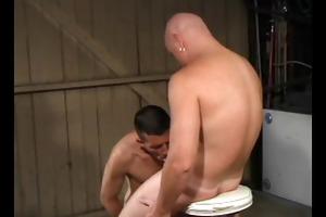 dad fucks lad in the garaje