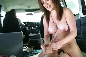 slutty juvenile schoolgirl gets banged in the van