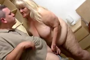 fatty granny with flaccid body &; guy