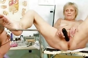 older old brigita getting pussy exam from