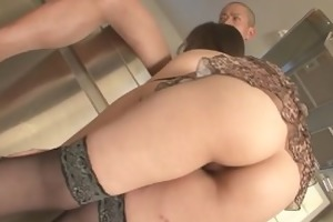 cute haruka oosawa in lingerie engulfing dick!